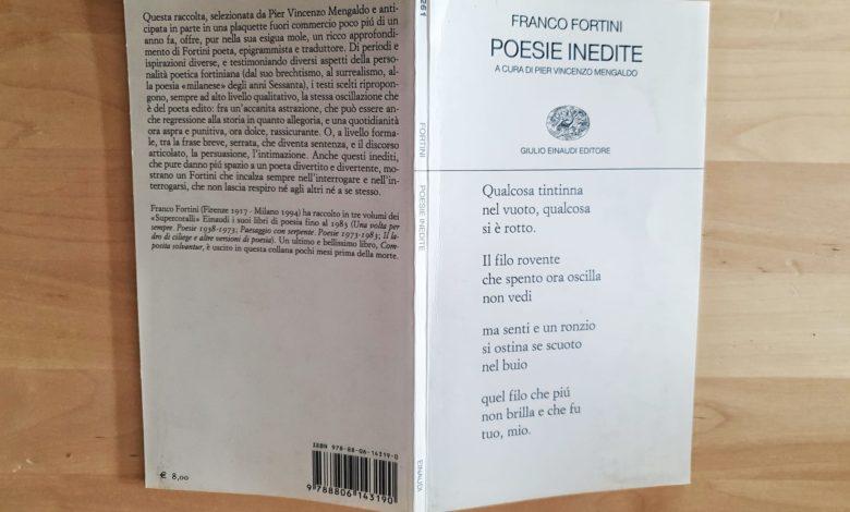 poesie inedite franco fortini